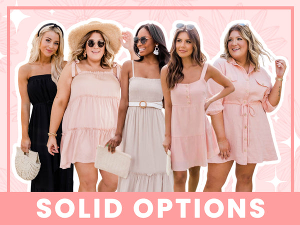solid colored dresses