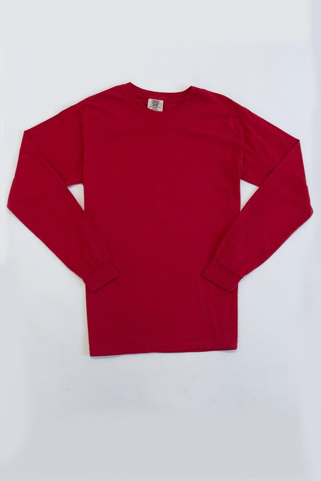 Comfort Colors Red Long Sleeve Tee  FINAL SALE