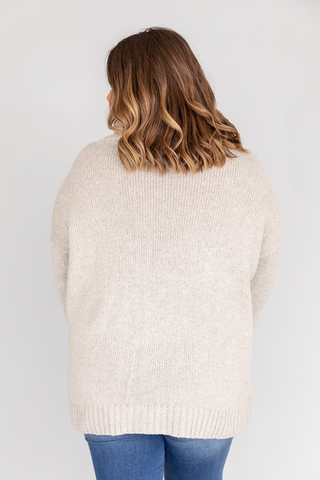 Give And Take Turtleneck Taupe Sweater