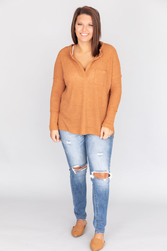 Always Loving You Most Burnt Orange Blouse