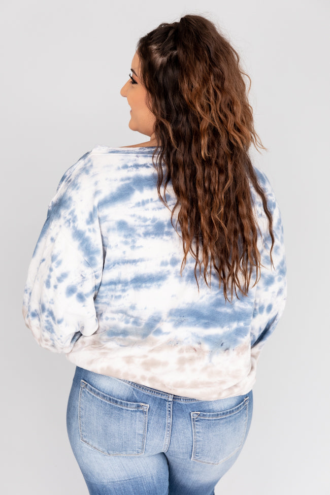 Hope In The Dark Tie Dye Pullover Navy FINAL SALE