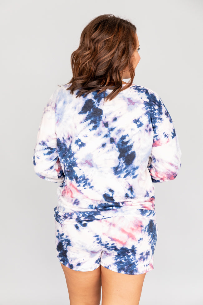 Rewrite The Song Tie Dye Blue Pullover