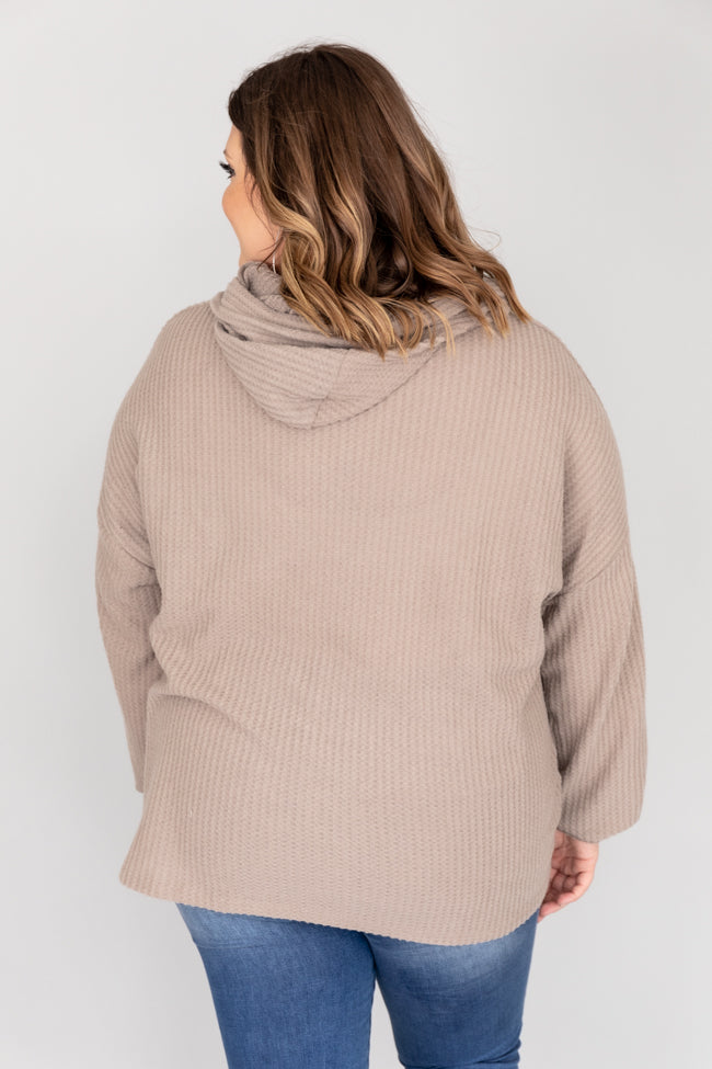 Look For Inspiration Taupe Pullover