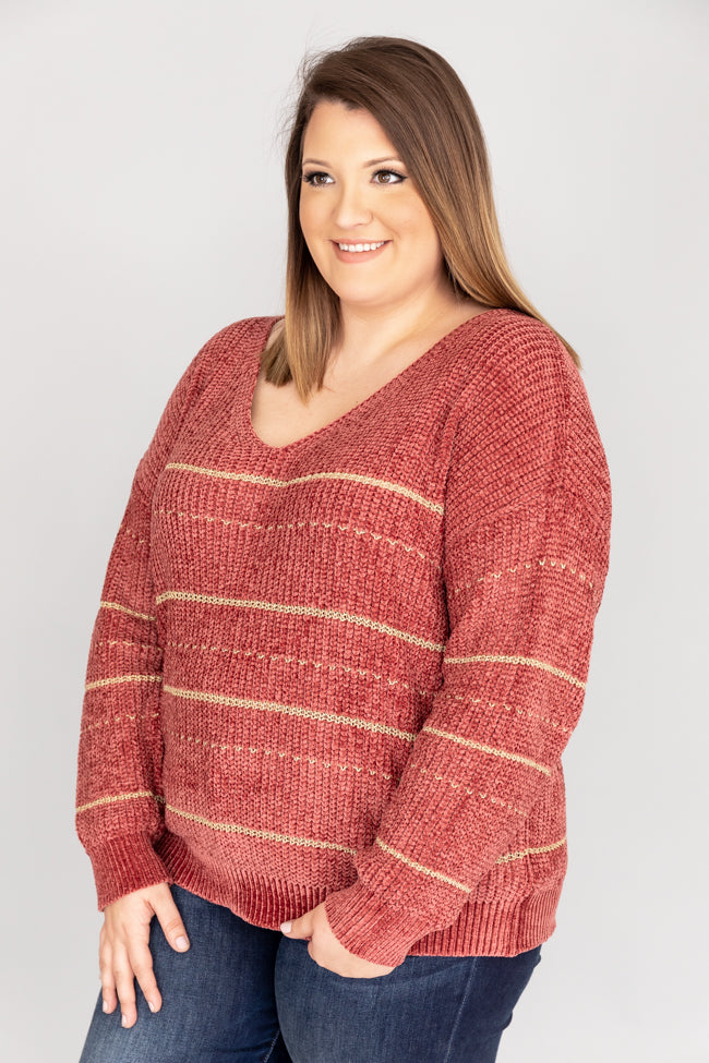 Join A Celebration Stripe Berry Sweater