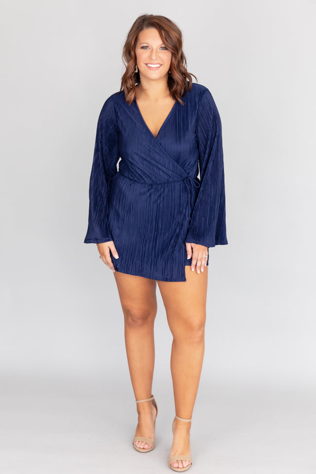 Midnight Kiss Navy Romper