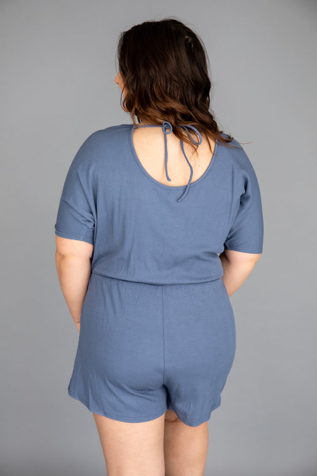 Ready For Anything Blue Romper