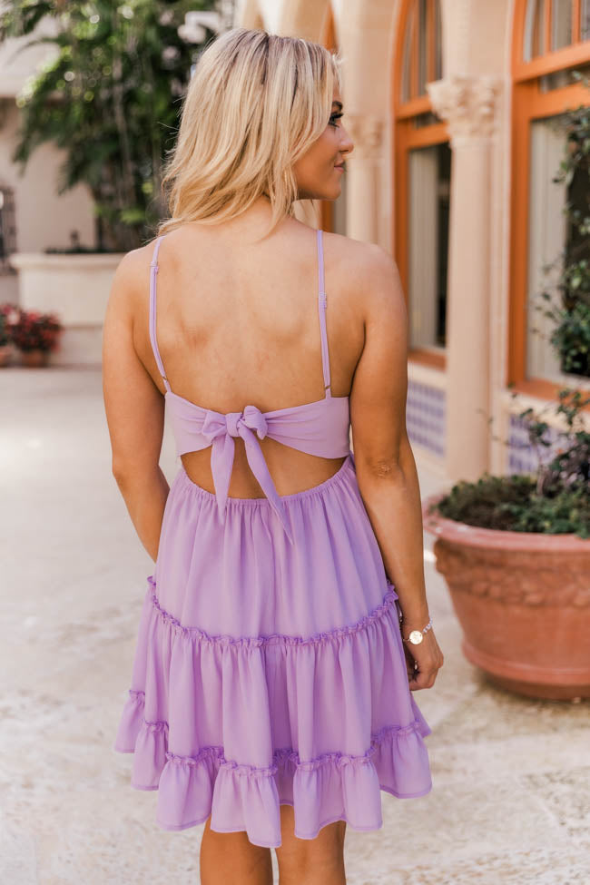 A Romantic Twist Lilac Lace Dress