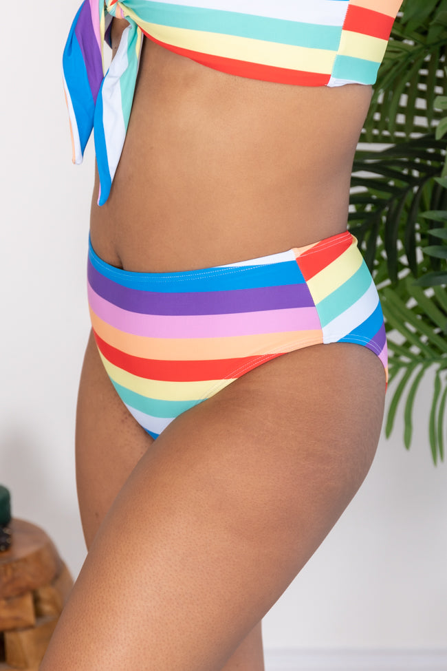 Create Your Own Sunshine Striped Bikini Bottoms