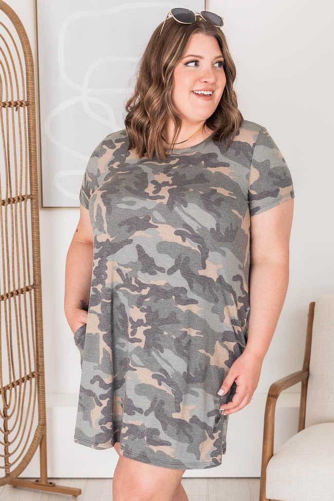 Carry Home In My Heart Camo Print Dress