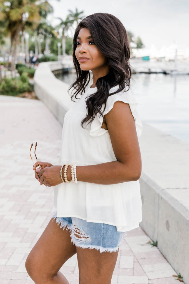 Unique To This Love Cream Blouse
