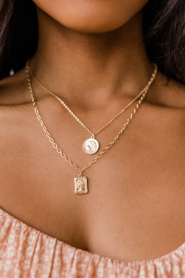 Priceless Memories Gold Layered Necklace