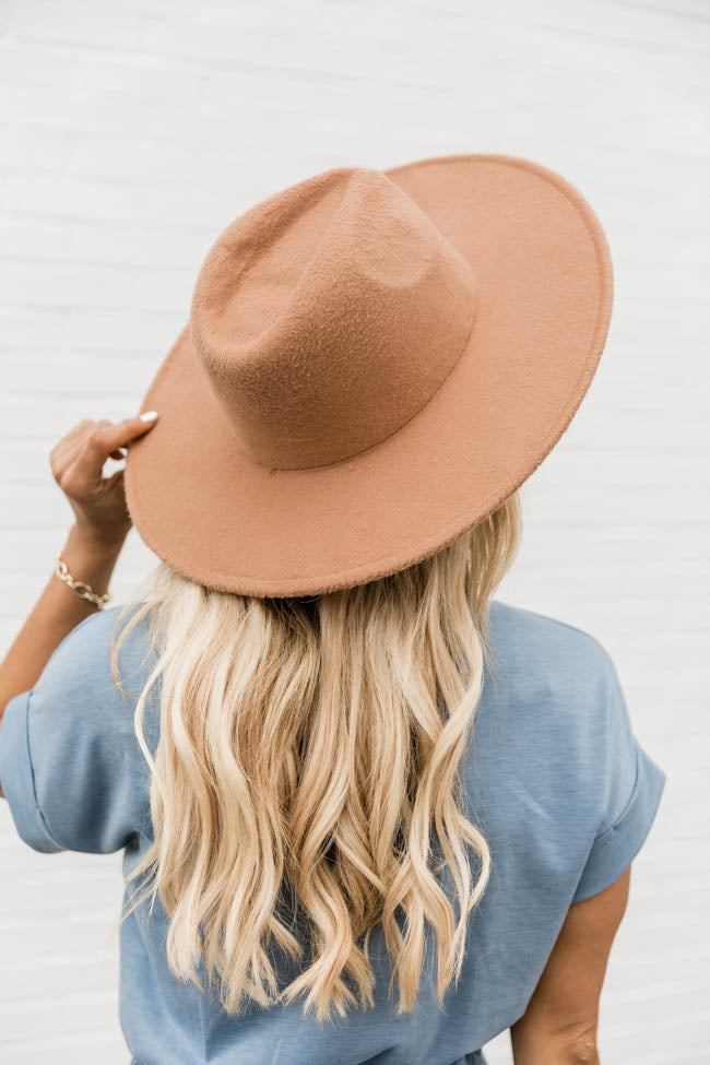 For Next Time Camel Wide Brim Fedora Hat