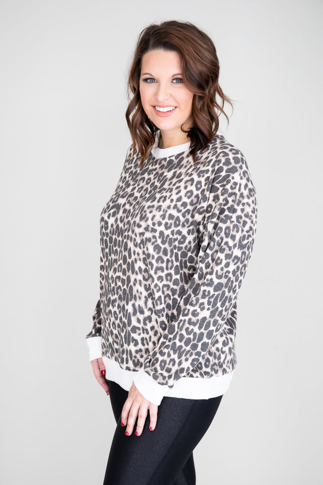 We Can Be Forever Animal Print Lounge Top