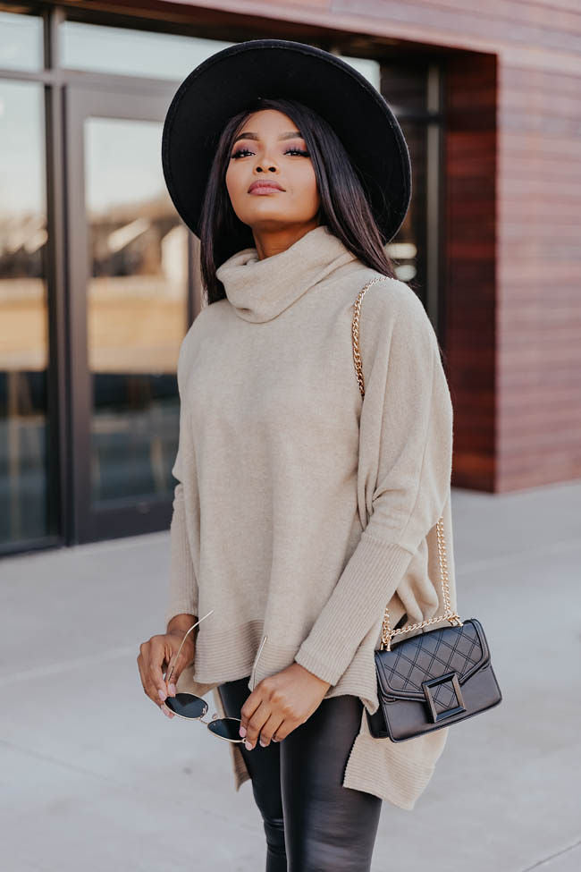 We Can Go The Distance Taupe Sweater FINAL SALE