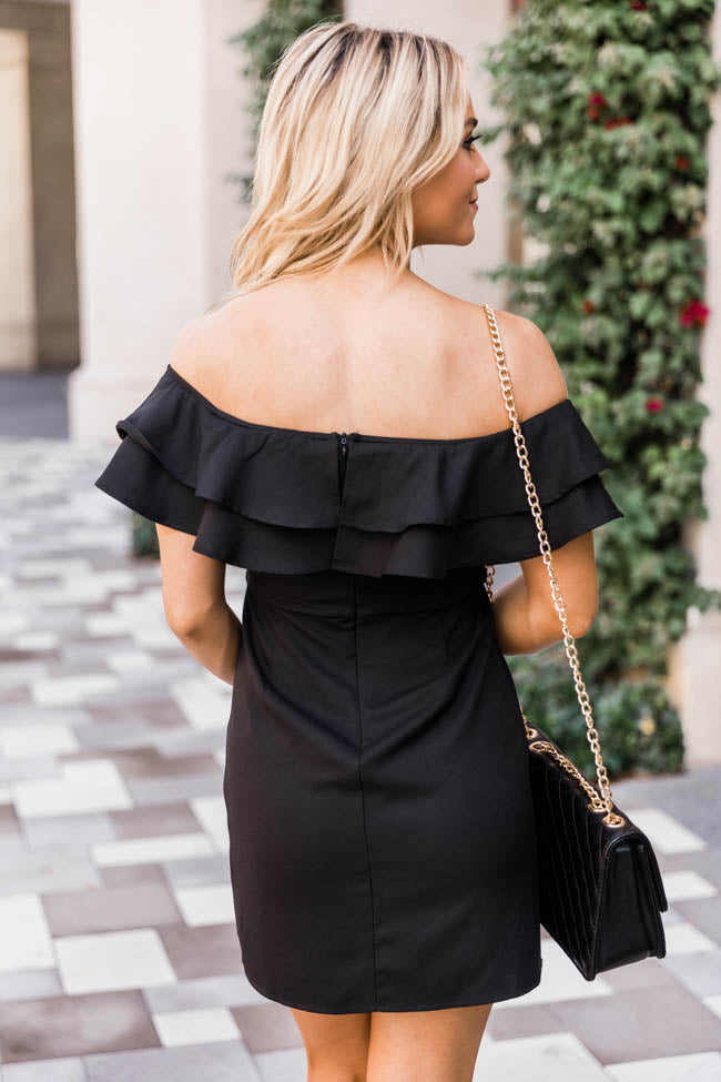 Never Late To The Party Black Dress