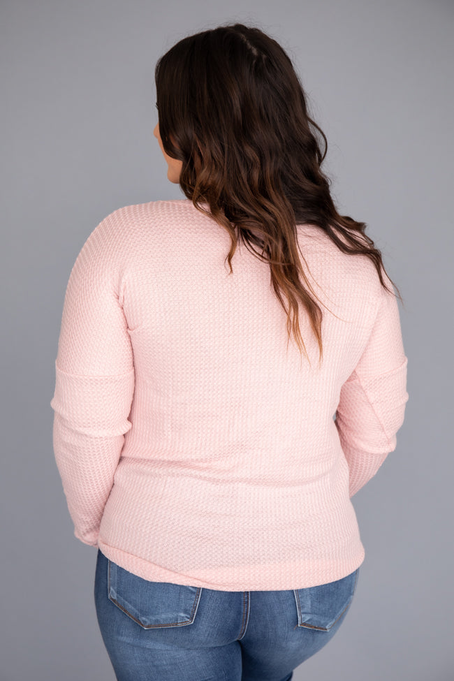 Just Be Beautiful Blush Blouse