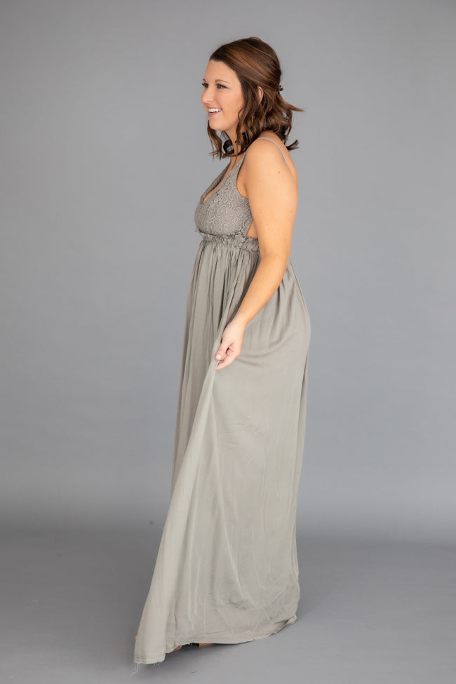 Once In A Lifetime Sage Maxi Dress