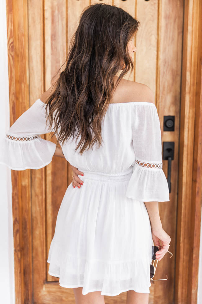 Stolen Dreams Off The Shoulder Dress White
