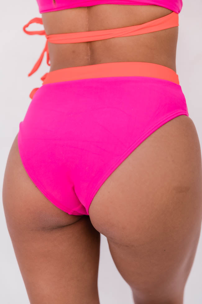 Catch A Wave Hot Pink Bikini Bottoms