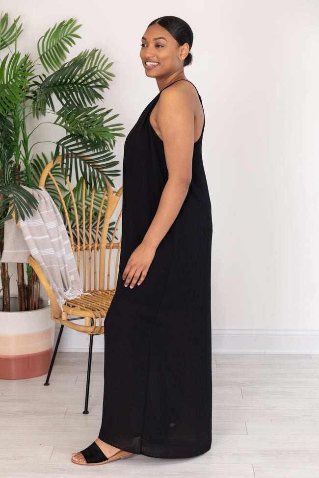 All I Really Want Is Love Black Maxi Dress