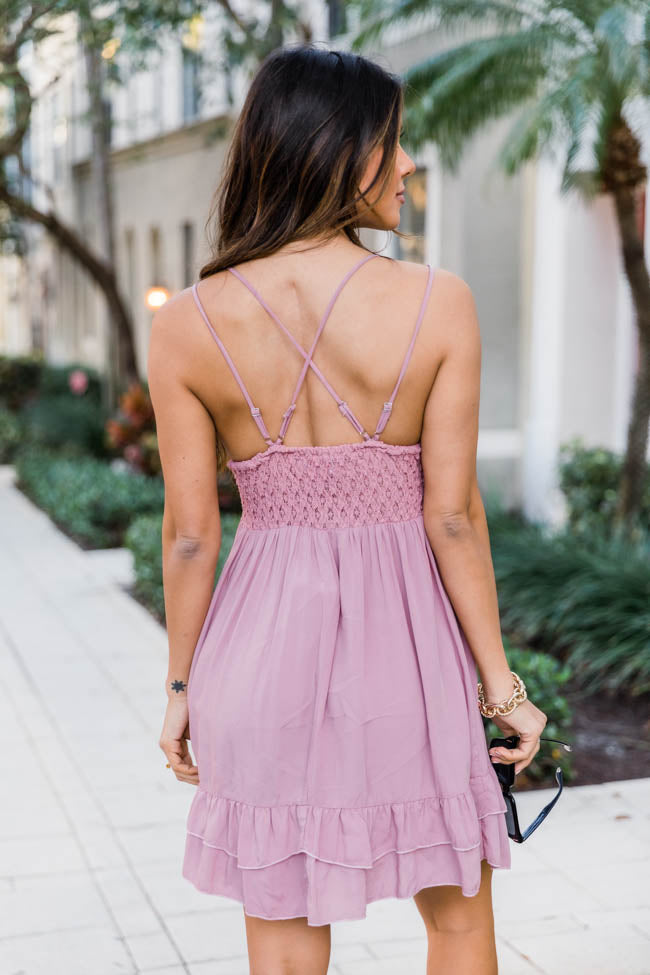 Won't Forget Me Mauve Lace Dress
