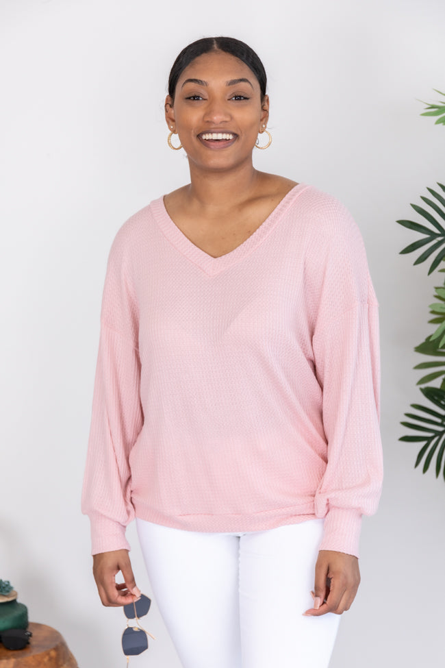 Keep Wishing For You Blush Blouse
