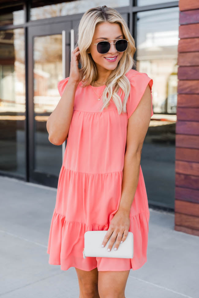 Complete My Heart Coral Dress