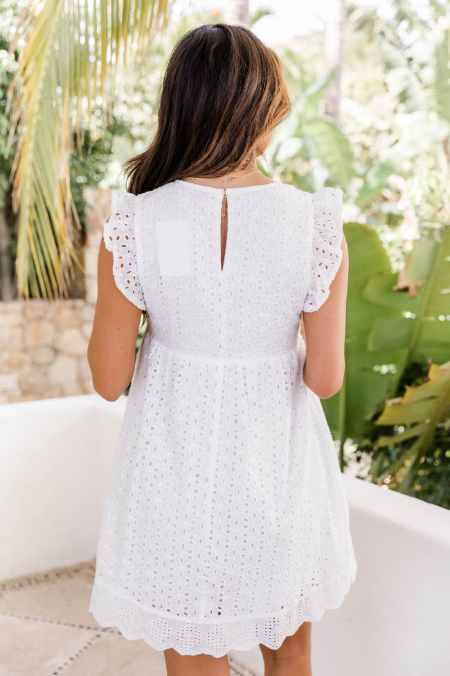 You Found My Heart White Lace Romper