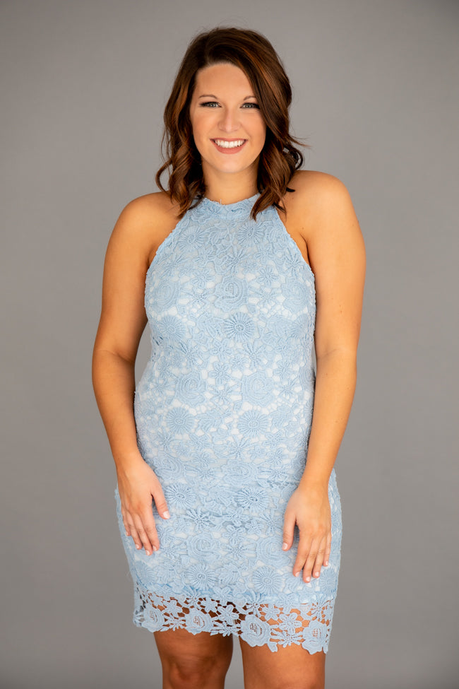 Enchant My Dreams Blue Lace Dress
