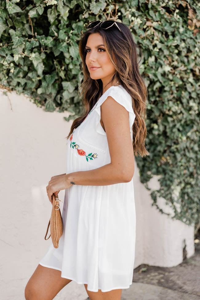 Summer Long Romance Dress White