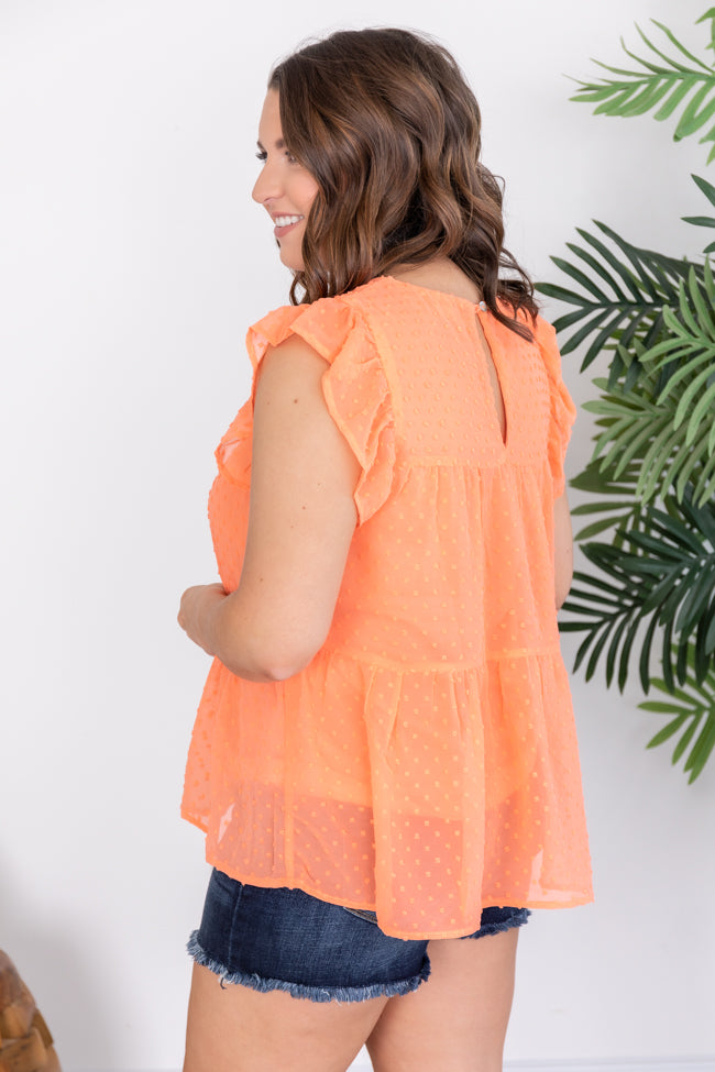 Cute As Can Be Blouse Coral
