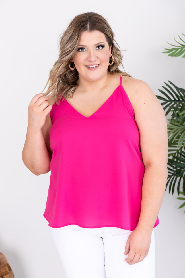 It's Up To You And Me Magenta Tank