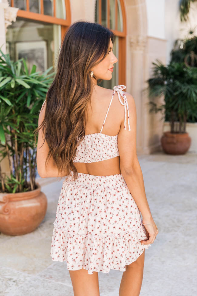 Poetry Of The Heart Ivory Floral Two Piece Set