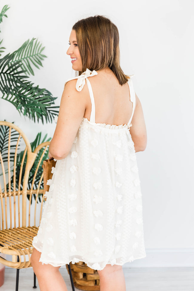 We Make The Rules Pom Dress Off White