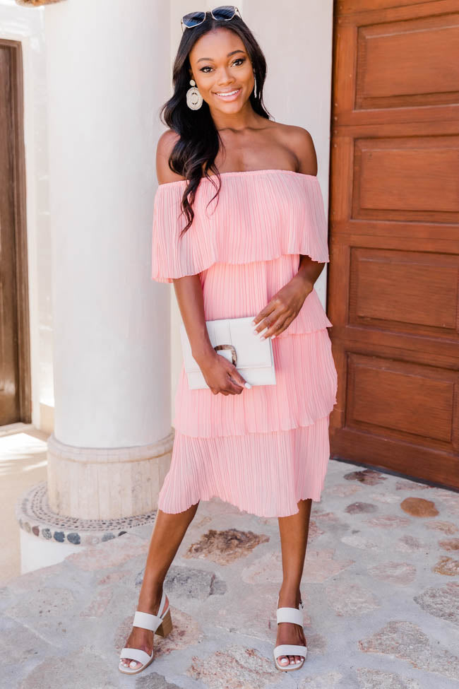 Pleat And Thank You Midi Blush