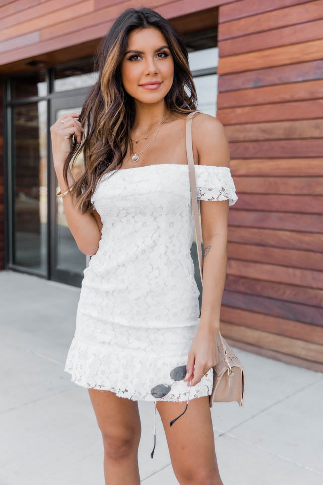 Keep You Forever Lace Dress White