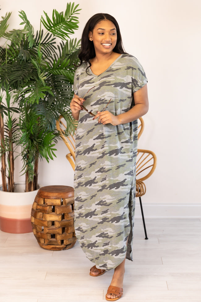 Obviously Yours Camo T-Shirt Maxi