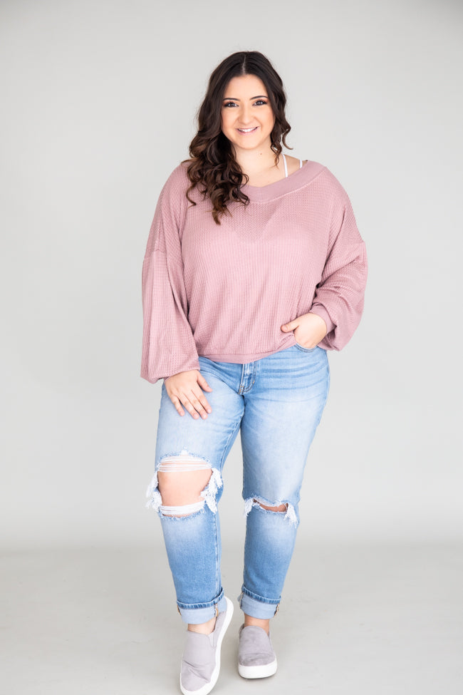 Brand New Day Mauve Pullover