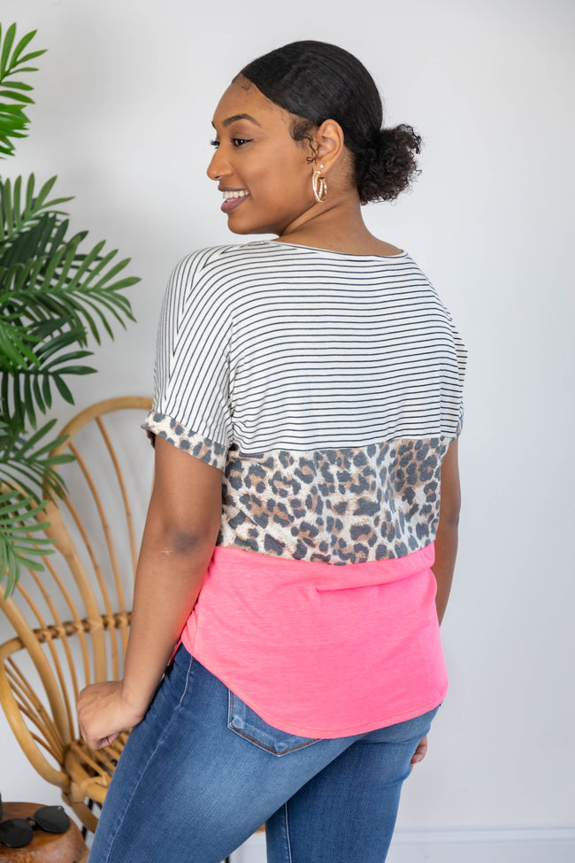 Smiling At Me Colorblock Blouse FINAL SALE