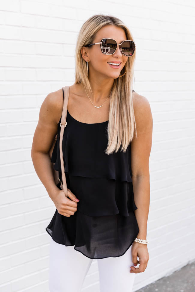 Colors Of Summer Solid Tank Black