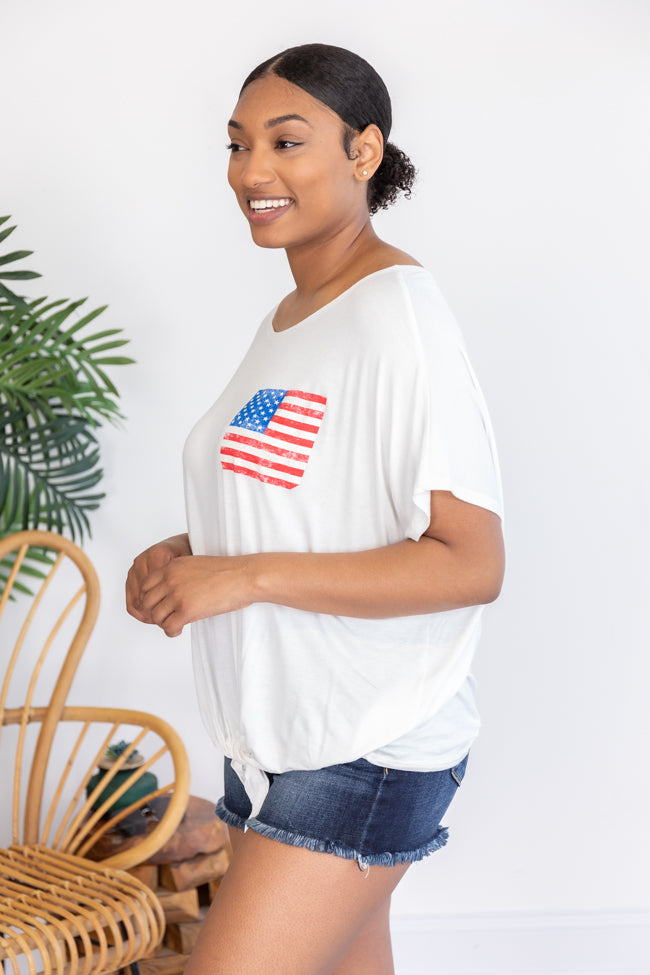 Passionately Patriotic Top White