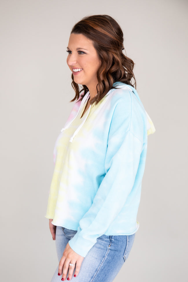 Eternity Of Happiness Tie Dye  Pullover Yellow/Blue
