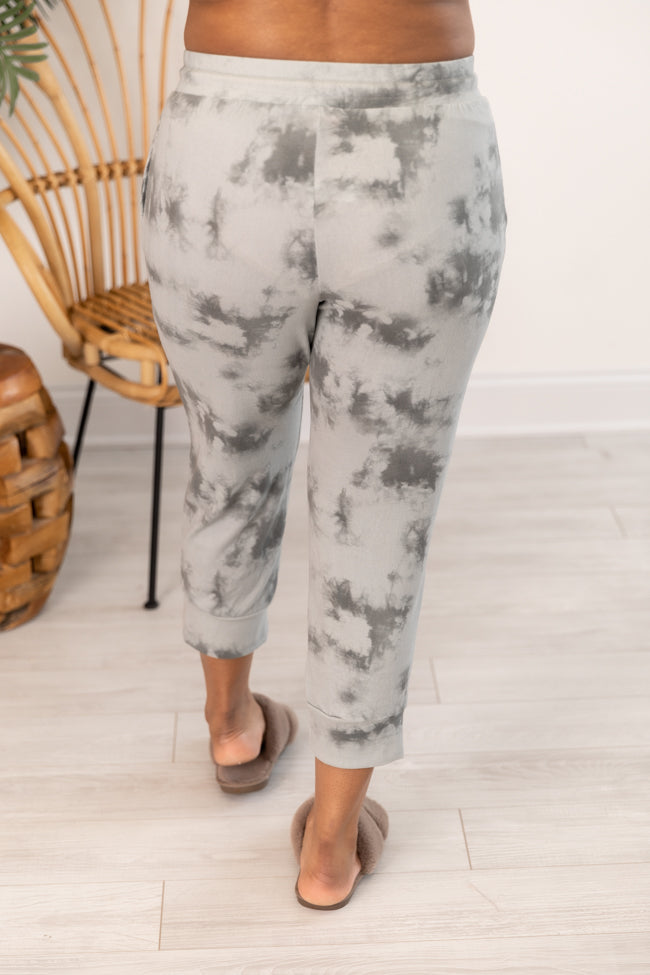 Slow And Steady Tie Dye Joggers Grey