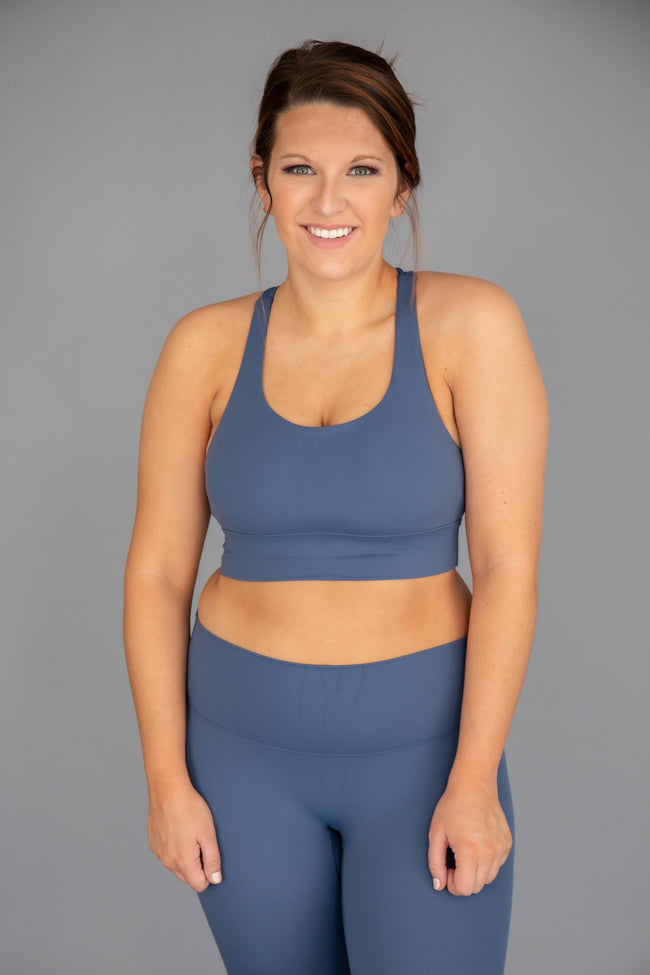 Let's Get Moving Sports Bra Blue