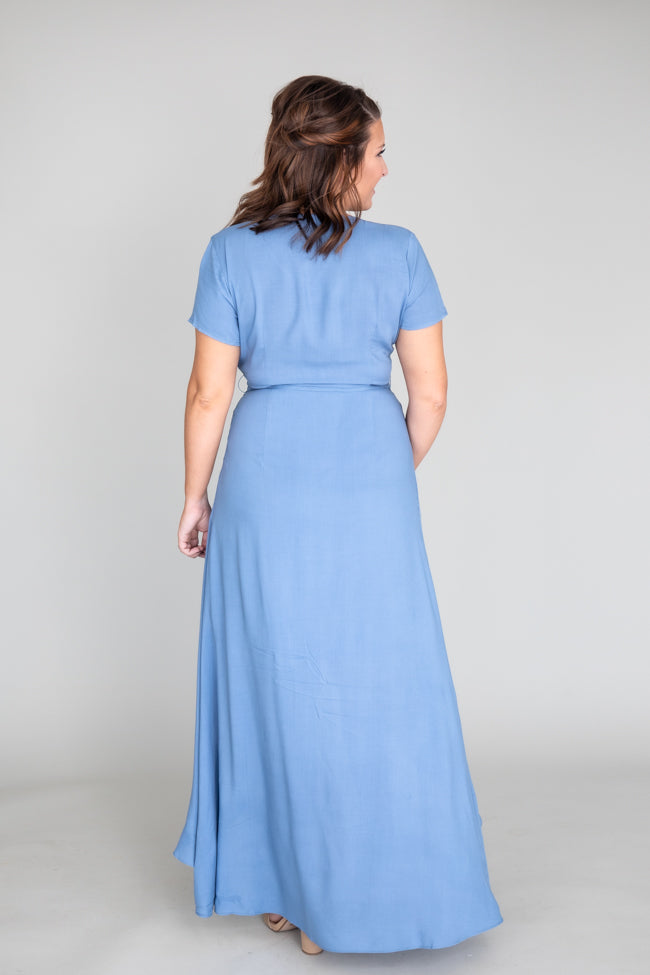 A Magnificent Night Blue Maxi Dress