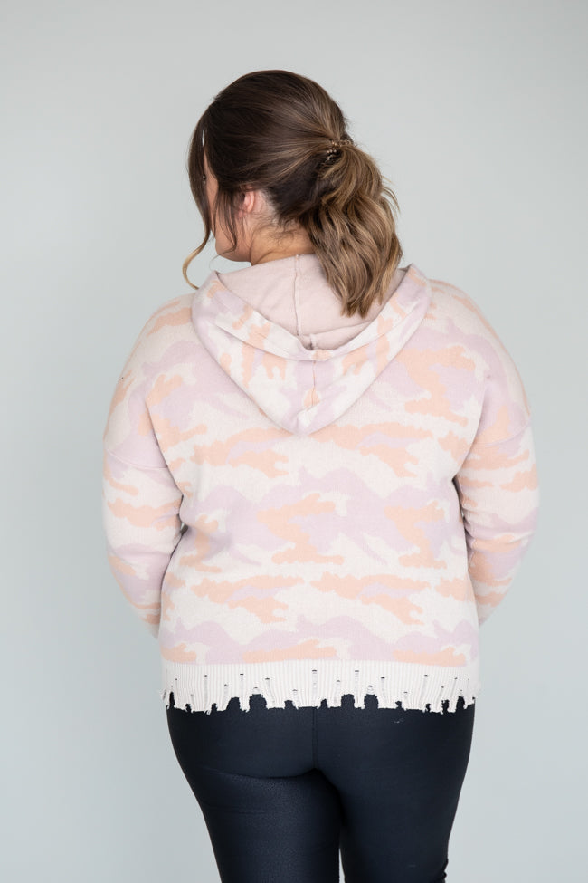 Happy At Heart Camo Pink Hoodie FINAL SALE