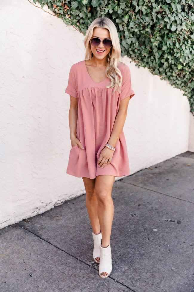 Connect To Your Heart Peach Dress