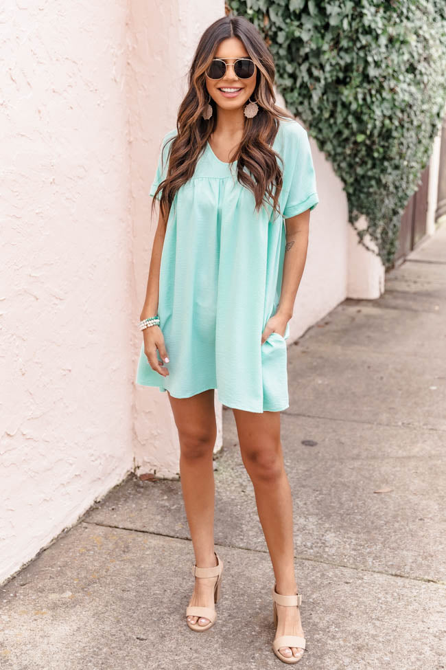 Connect To Your Heart Mint Dress