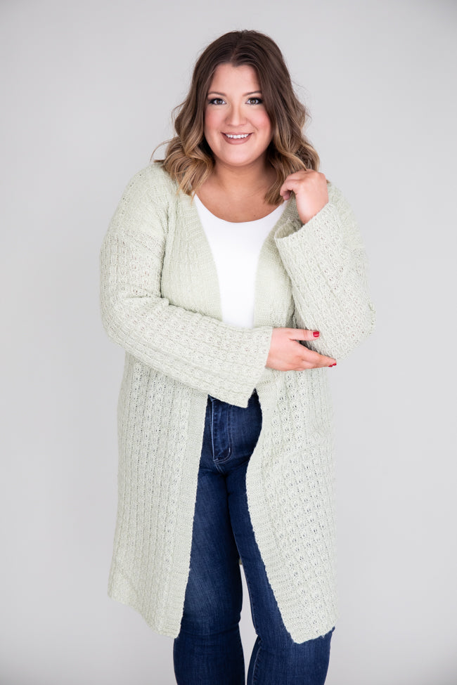 Bright Future Green Cardigan FINAL SALE
