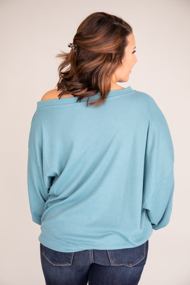 Keep Your Promise Teal Blouse